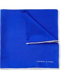 Fazzoletto da taschino blu