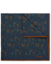 Fazzoletto da taschino con stampa cachemire blu scuro
