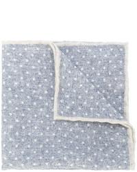 Fazzoletto da taschino di lana a pois grigio di Eleventy