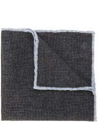 Fazzoletto da taschino di lana a quadri marrone scuro di Eleventy