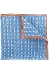 Fazzoletto da taschino di lana azzurro di Eleventy