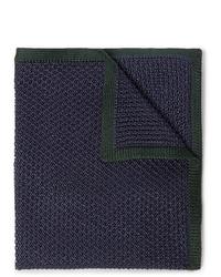 Fazzoletto da taschino di lana blu scuro di Brioni