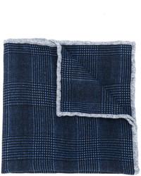 Fazzoletto da taschino di lana blu scuro di Eleventy
