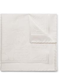 Fazzoletto da taschino di seta bianco di Berluti
