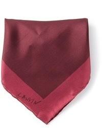 Fazzoletto da taschino di seta bordeaux di Lanvin