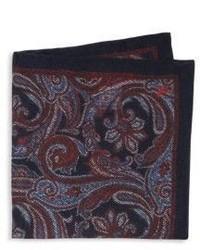 Fazzoletto da taschino di seta con stampa cachemire bordeaux