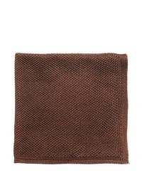 Fazzoletto da taschino di seta marrone scuro
