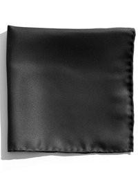 Fazzoletto da taschino di seta nero