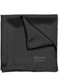 Fazzoletto da taschino di seta nero di Charvet