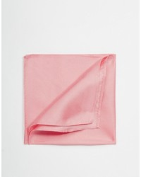 Fazzoletto da taschino di seta rosa di Asos