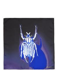 Fazzoletto da taschino di seta stampato blu scuro di Paul Smith