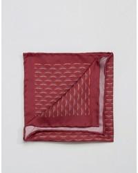 Fazzoletto da taschino di seta stampato rosso di Original Penguin