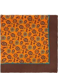 Fazzoletto da taschino stampato arancione