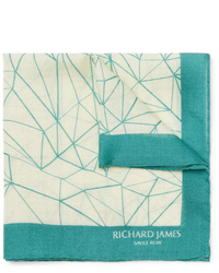 Fazzoletto da taschino stampato beige di Richard James