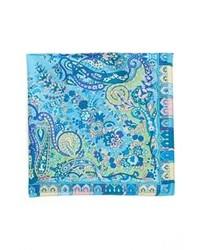 Fazzoletto da taschino stampato blu