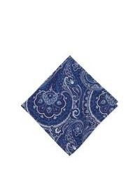 Fazzoletto da taschino stampato blu scuro e bianco