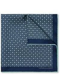Fazzoletto da taschino stampato blu scuro di Kingsman