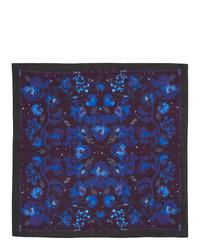 Fazzoletto da taschino stampato blu scuro di Paul Smith