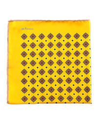 Fazzoletto da taschino stampato giallo