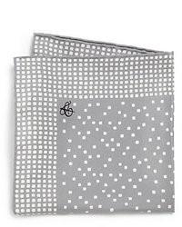 Fazzoletto da taschino stampato grigio