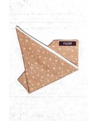 Fazzoletto da taschino stampato marrone chiaro