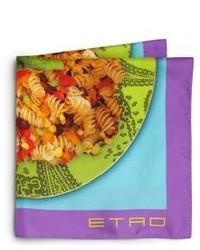 Fazzoletto da taschino stampato multicolore