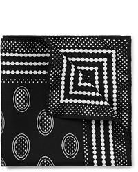 Fazzoletto da taschino stampato nero e bianco