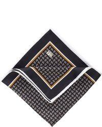 Fazzoletto da taschino stampato nero