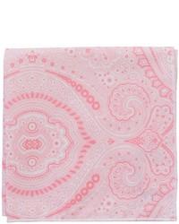 Fazzoletto da taschino stampato rosa