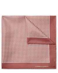 Fazzoletto da taschino stampato rosa di Turnbull & Asser