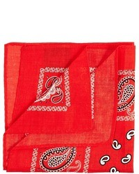 Fazzoletto da taschino stampato rosso di Asos