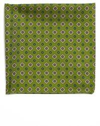 Fazzoletto da taschino stampato verde oliva