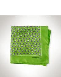 Fazzoletto da taschino stampato verde