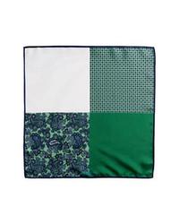 Fazzoletto da taschino stampato verde scuro