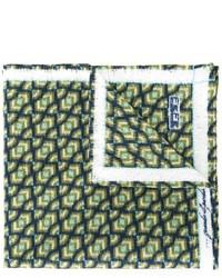 Fazzoletto da taschino stampato verde scuro di fe-fe