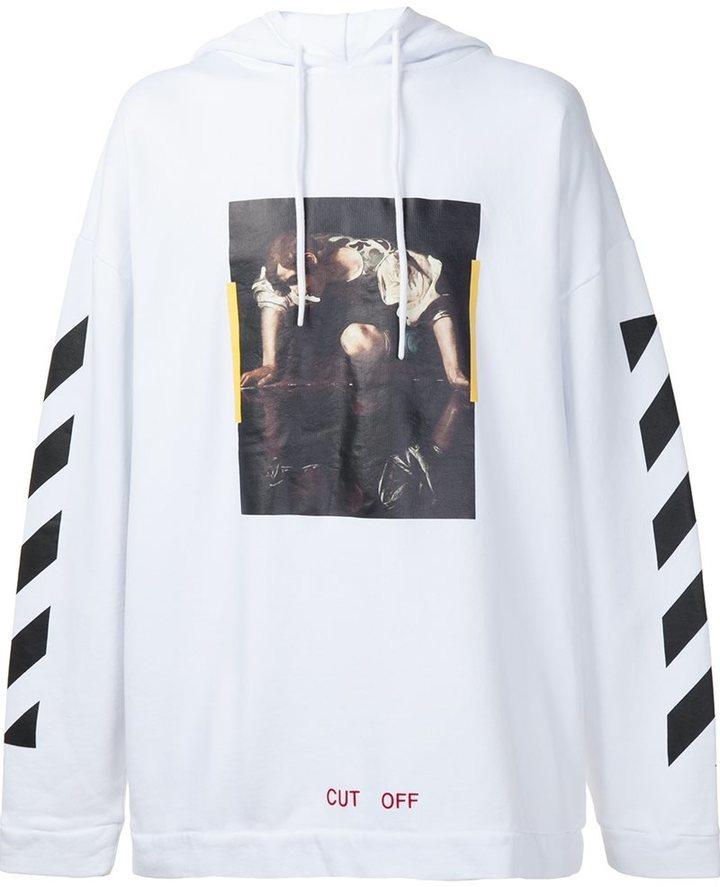 rivenditore di vendita ba500 647c1 Felpa con cappuccio bianca di Off-White