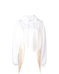 Felpa con cappuccio bianca di Stella McCartney
