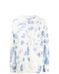 Felpa con cappuccio effetto tie-dye bianca di Stella McCartney