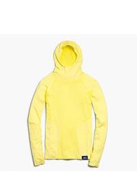 Felpa con cappuccio gialla