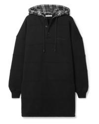 Felpa con cappuccio nera di Balenciaga