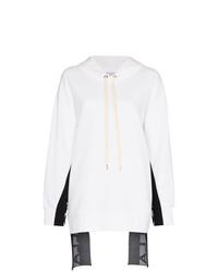 Felpa con cappuccio stampata bianca di Stella McCartney