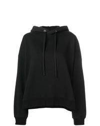Felpa con cappuccio stampata nera e bianca di Maison Margiela