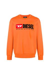 Felpa stampata arancione di Diesel