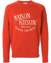 Felpa stampata arancione di MAISON KITSUNÉ