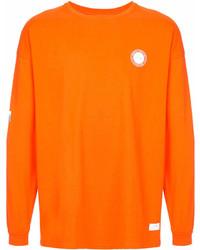 Felpa stampata arancione di Stampd