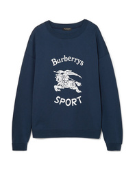 Felpa stampata blu scuro di Burberry