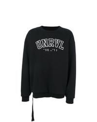Felpa stampata nera e bianca di Unravel Project