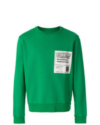 Felpa stampata verde