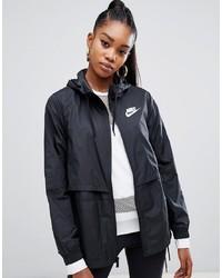 Giacca a vento nera di Nike