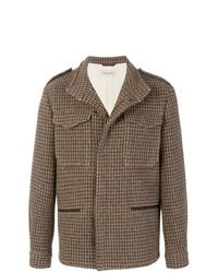 Giacca da campo di lana marrone